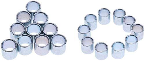 N /A Inline Skates Rollschuhe Ersatzrollen Lager Spacer mit 8 mm Innendurchmesser und 10 mm Außendurchmesser, 20 Stück
