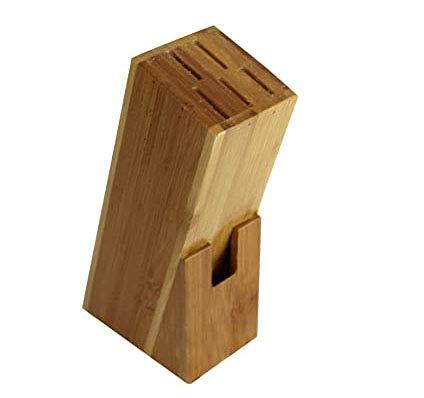 Wagtail Soporte de Cuchillo de Madera Multifuncional Bloque de bambú Soporte de Cuchillo Tijera Ranura de Almacenamiento para Cocina.