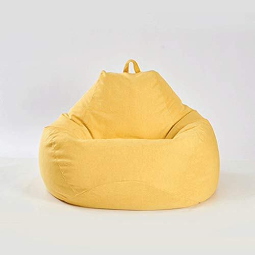 Dsrgwe Sitzsäcke Erwachsene Kind BeanBag Sofa Recliner, Gaming-Speicher-Beutel, for Indoor Outdoor faules Sofa, Stuhl, (Color : Yellow, Size : 70 * 80cm)
