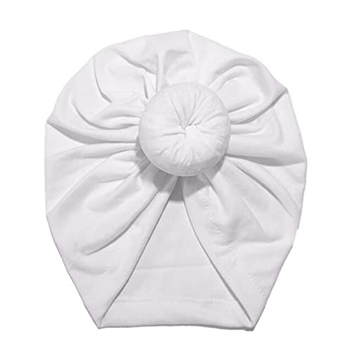 bebé Turbante niño niño niña Sombrero Comodidad Colorido Encantador 18 cm Suave Gorra Primavera Verano otoño Sombrero-White