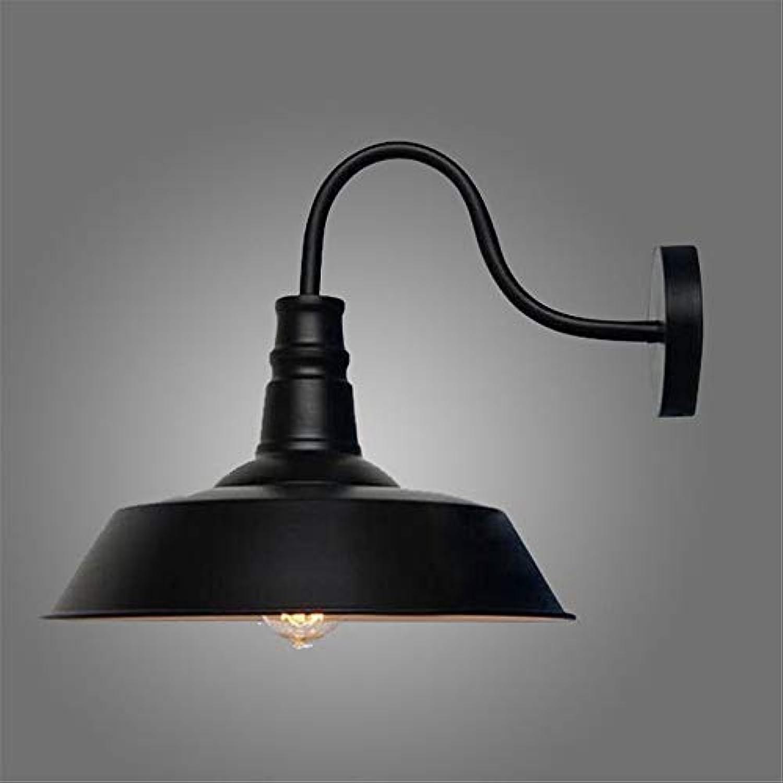 Licht Innenbeleuchtung Schlafzimmer Bar Wohnzimmer Cafe Retro Schmiedeeisen Wandleuchte, 12 × 28 × 26cm, schwarz