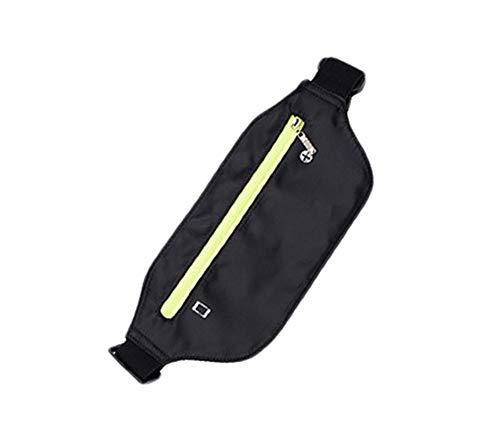 Hosaire Ceinture de Rangement Ajustable Unisexe Solid Couleur Sacs de Sport Pochette pour Transporter Téléphone Clé Pratique pour Sport Running Voyage Grande capacité (Noir)