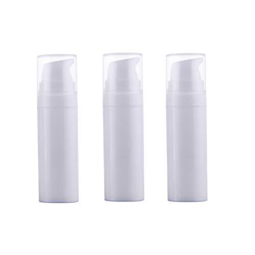 3 Pcs Blanc vide Plastique baïonnette vide pour bouteilles Portable durable Mini Lotion Nettoyant visage Essence Crème Pot Cosmétique Beauté du visage de conservation support pour