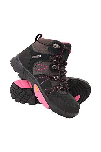 Mountain Warehouse Edinburgh Vibram Youth Wasserfeste Kinder Stiefel - Atmungsaktive, leichte Wanderstiefel, Netzfutter, strapazierfähige Regenstiefel. Wanderschuhe Rosa Kinder-Schuhgröße 37 DE