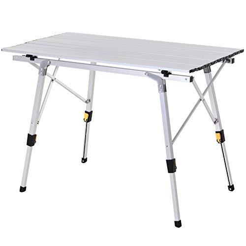 Outsunny Table Pliante en Aluminium Table de...