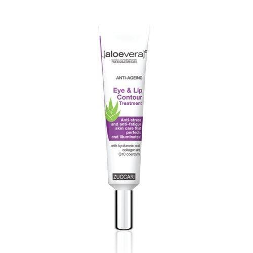 ZUCCARI [aloevera] ² - Crema contorno occhi anti-età e labbra, 1 confezione (1 x 18 ml)