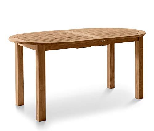 Landmann Teak-Gartentisch ca. 150-200x90 ausziehbar Esstisch Holztisch Tisch Holz oval