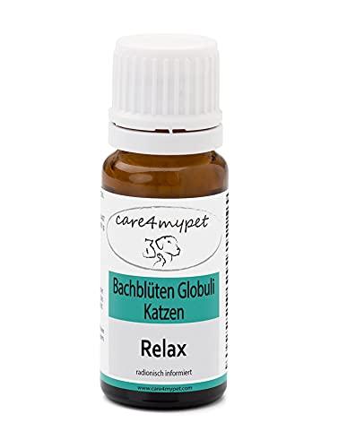 Katze Bachblüten Globuli RELAX speziell für Katzen. RELAX ist ein natürliches Beruhigungsmittel bei Unruhe, Nervosität, Reise, Lärm, Unwetter oder allgemeine Furcht. Die sanfte Hilfe in Potenz C30