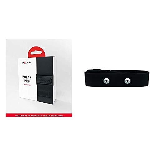POLAR Pro Brustgurt, Schwarz, XXXL & Unisex Sportuhr Soft Strap M-XXL Ca.63-83cm Brustgurt, Schwarz, M-XXL