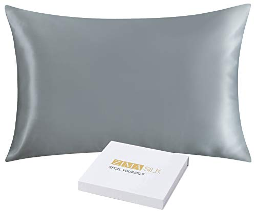 ZIMASILK 25 Momme 100% Mulberry Silk Pillowcase for Hair and Skin