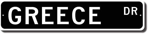 EpochSign Placa Decorativa para Pared con Texto en ingl/és Gr/écia 10 x 40 cm