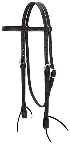 Weaver Leather Black Leather Browband Headstall