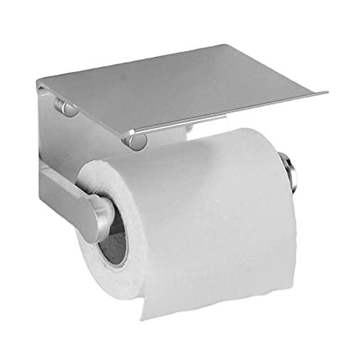 GuanRo Soporte de Papel higiénico montado en la Pared Soporte de Tejido de Aluminio Teléfono móvil Teléfono móvil Rollo de Papel Rostro Montaje en Pared Producto de baño (Color : Bright Light)