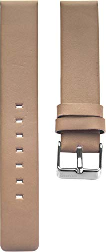 Oozoo Armband Uhrenband Uhrenarmband Leder Lederband mit Dornschließe Pinkgrau - 18 mm