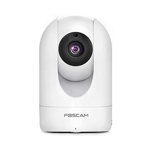 Foscam R2M 2MP IP-Kamera, WLAN, Sicherheit, AI, menschliche Erkennung, Nachtsicht, kompatibel mit Alexa, (P2P, 1080p, ONVIF)