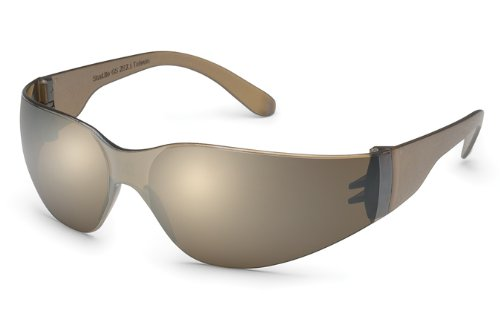 Gateway Safety 466M UL-Certified StarLite Safety Glasses, Mocha Mirror Lens, Mocha Temple (Pack of 10)