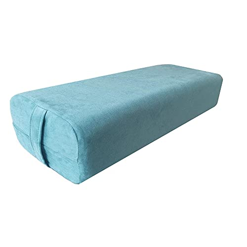 NGT new guide steps Yoga Bolster Pillow for Meditation and Support - Rectangular Yoga Cushion Foam Wedges Washable Suede Pillowcase for Men and Women with Carry Handles. (Green)