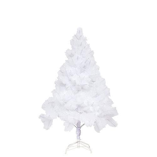Aufun Weihnachtsbaum Künstlich 150cm Künstlicher Weinachts Baum Deko Tannenbaum Weiß Tannennadeln mit Metallständer Weihnachtsdeko