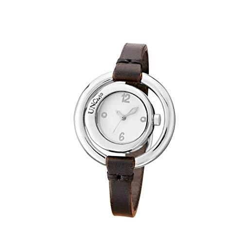 Uno de 50 Zeit IST AUF MEINER Seite REL0142BLNMAR0U Frau Silberne Uhr