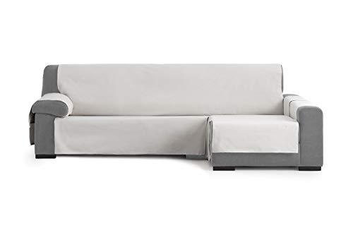 Eysa Garona Protect Funda de sofá, 90% algodón 10% Poliester, 06/Gris, Chaise Longue 240 cm