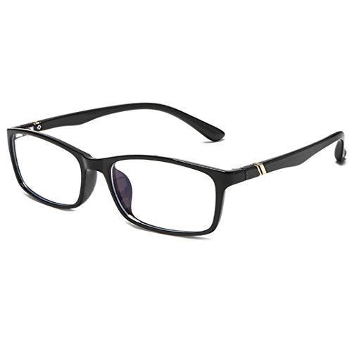 Luce blu filtro [anti affaticamento degli occhi]-Anti Bagliore contro l'Affaticamento degli Occhi con Cornice TR90 e Bracci in Metallo, Lenti Trasparenti