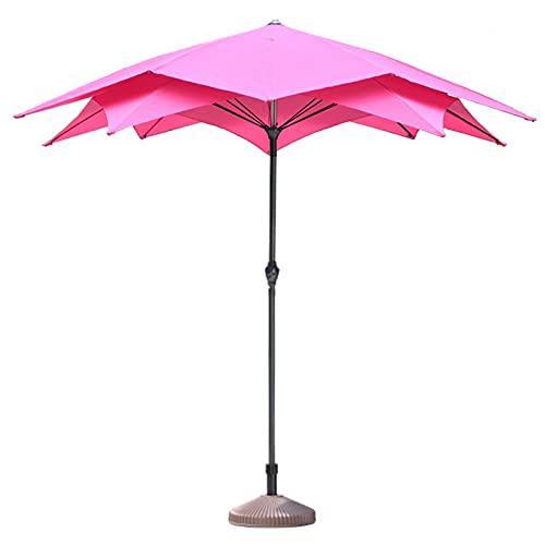 Riyyow Parasol Umbrella Beach Patio Paraguas con Base Incluida, Pequeña Bistro Plantas Sombra Publicidad Paraguas, Protección Sol Paraguas de Mesa al Aire Libre (Color : Winered)