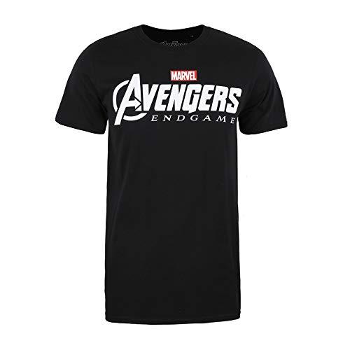Marvel Avengers Endgame Logo Camiseta, Negro (Black Blk), Medium (Talla del Fabricante:...