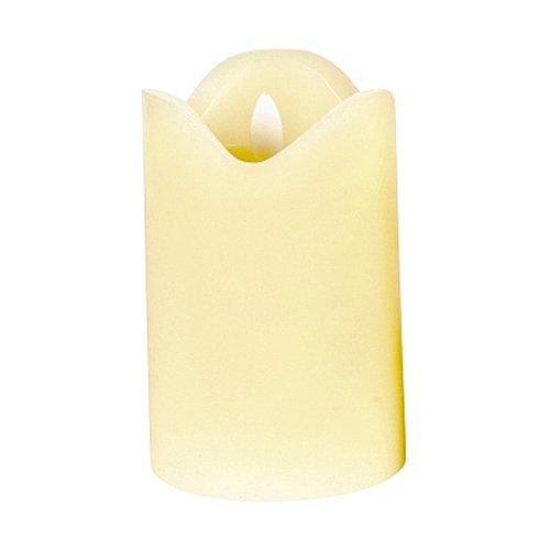 CEPEWA LED kaars m. beweegbare vlam ivoor H 12,5 cm