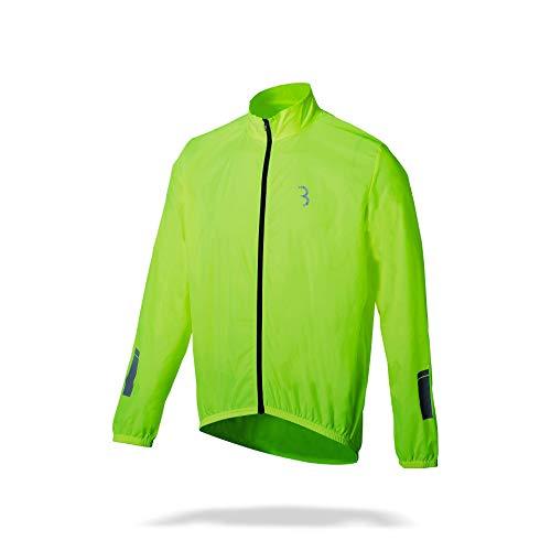 BBB BaseShield BBW-148 Veste de cyclisme pour homme et femme - Imperméable et coupe-vent - Léger réfléchissant - Vélo de course urbain - Polyamide 3XL jaune néon