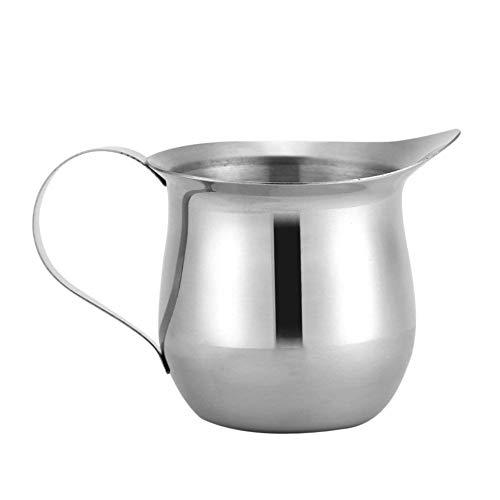 Jarritas para leche de 90ml / 3oz, calentador leche taza de espuma de leche de acero inoxidable con mango para espresso Latte Art