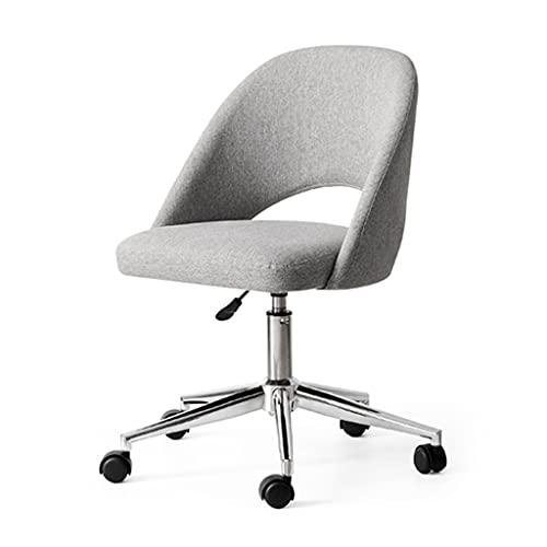 Bürostühle Computerstuhl Kleiner, umdrehender Single Chair einfache Heben Freizeitstuhl Wohnzimmer Studienstudierstuhl (Color : Gray, Size : 54 * 54 * 88cm)