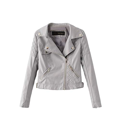 Nvfshreu Lederen jas Dames Fashion Herfstkleding PU Leather Jacket Dames model smalle kraag kort leer