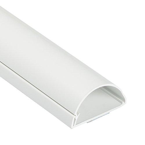 D-Line Maxi 1M5025W, Canaletas decorativas para cables de TV, Una solución cómoda que organiza y cubre los cables de TV en la pared - 50 x 25 mm y 1 metro de longitud en color blanco