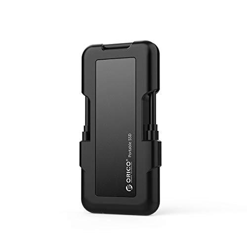 ORICO SSD Portable 128GB 940MB/s NVme USB 3.1 Gen-2 Type-C 10Gbps Externe Solid State Drives Draussen Stoßfest,Wasserdicht und Staubdicht-SV100 Azul