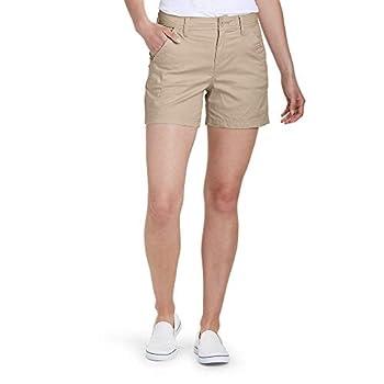 Eddie Bauer Women s Aspire Chino Shorts Light Khaki Regular 8