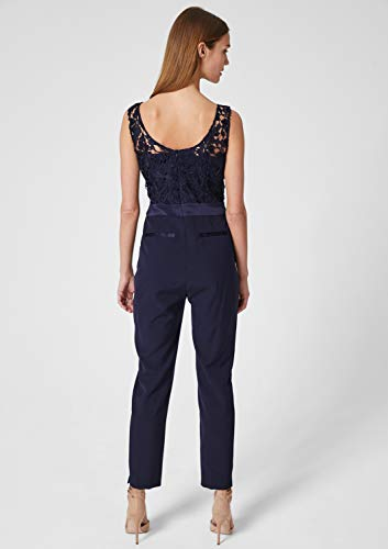 s.Oliver BLACK LABEL Damen Edler Overall mit Spitze deep sea 40 - 6