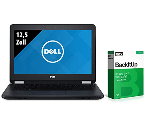 Dell Latitude E5270-12,5 Zoll - Core i5-6300U @ 2,40 GHz - 8GB RAM - 250GB SSD - FHD (1920x1080) - Webcam - Win10Home (Zertifiziert und Generalüberholt)
