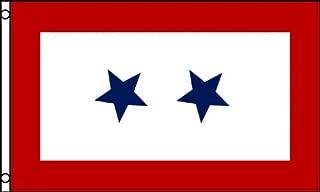 AZ FLAG Blue Star Service Flag 2 Stars Flag 3' x 5' - Service Banner Flags 90 x 150 cm - Banner 3x5 ft