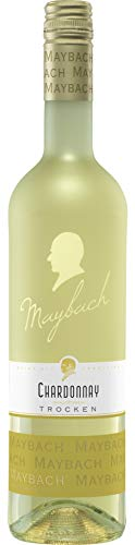 Maybach Chardonnay Trocken, Ein trockener, gehaltvoller Weisswein von leuchtender Farbe (1 x 0.75 l)
