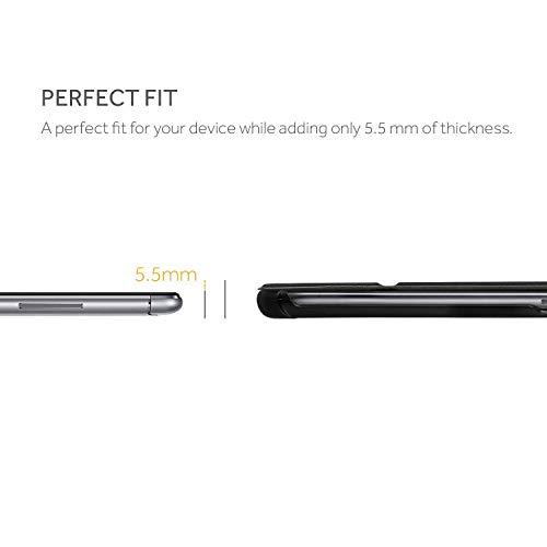EasyAcc Hülle für Huawei Mediapad M5 Lite 10, Ultra Dünn, mit Standfunktion und Auto Sleep/Wake Up Funktion Slim Leder Case Perfekt kompatibel für Huawei Mediapad M5 Lite 10 2018, Schwarz