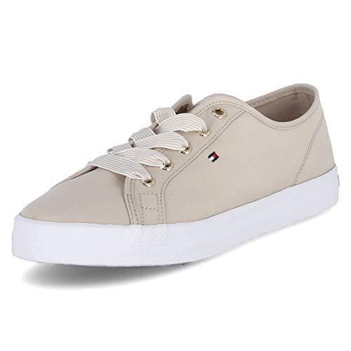 Tommy Hilfiger Essential Nautical Sneaker, Nautica Esencial Mujer, Beige Clásico, 41.5 EU
