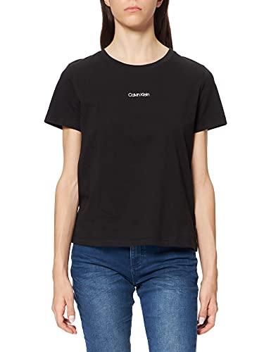 Calvin Klein Damen Mini T-Shirt, Ck Schwarz, XXL