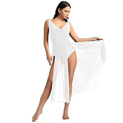inhzoy Vestido de Danza Ballet para Mujer Maillot Largo Sin Mangas Vestido...