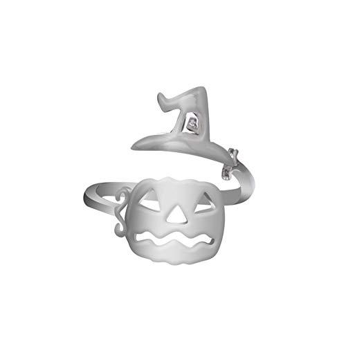 Romote Halloween Ring Multi-Form-Hexenhut Besen Kürbis Ring Kreative Kürbis Lampe Hohler Ring Einfache Justierbare Ring-Geöffnete Ring-Partei Props Style 1