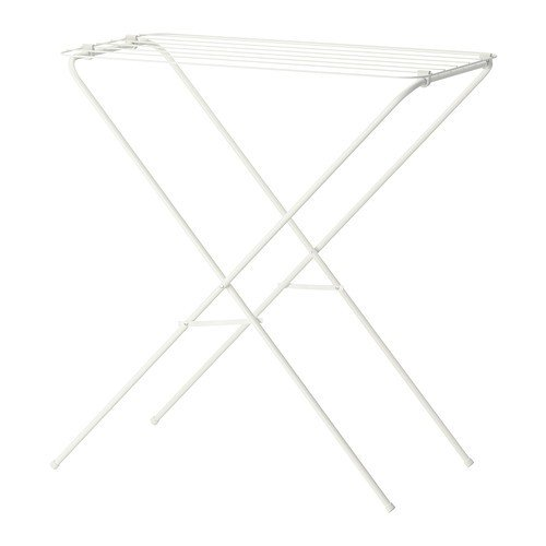 IKEA, stendibiancheria, stendino per interni ed esterni, capacità di asciugatura 6 m, lunghezza x larghezza x altezza; 40 x 79 x 82 cm, Plastica, bianco, 120x60cm