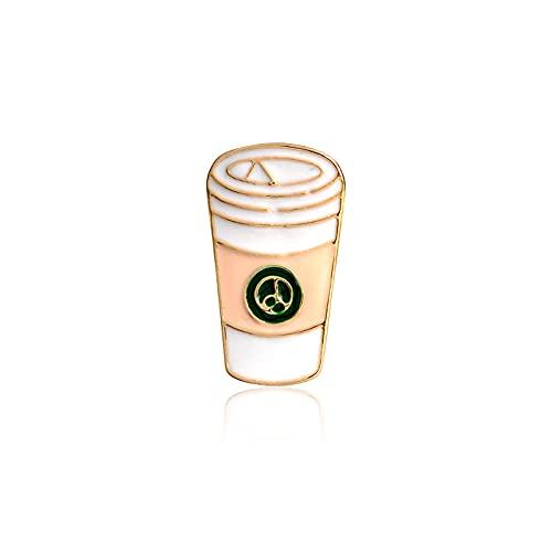 Cartoon Getränk Emaille Pin Brosche Bier Milchsaft Cola Kaffee Denim Jacke Revers Pin Mantel Abzeichen Modeschmuck für Kinder Frauen-Kaffee