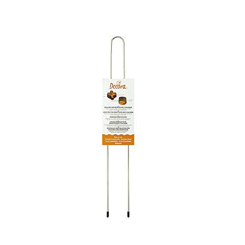 Decora 0064015 SPILLONE Inox per PANETTONE E Colomba 50 CM, Acciaio Inossidabile, Argento