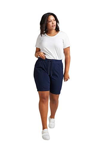 Zizzi Damen Sommer Shorts Loose Fit Kurze Hose Sommerhose Große Größen 42-56