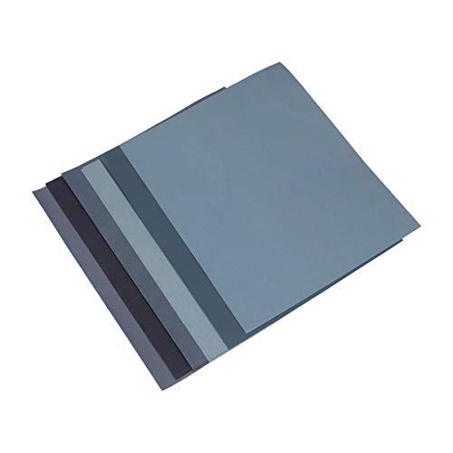 Hemobllo Paquete de 12 piezas de papel de lija de doble uso, abrasivo, seco y húmedo, surtido para el acabado de muebles, lijado, pulido, torneado de madera