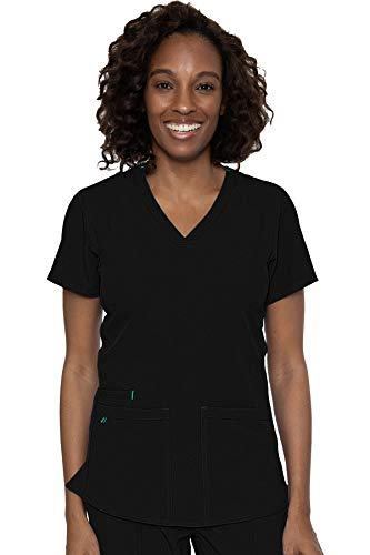 Med Couture Energy Women's Racerback Shirttail Top, Black, Small